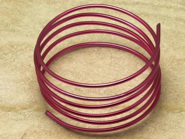 Aluminiumdraht, pink, 2 mm, 6 m