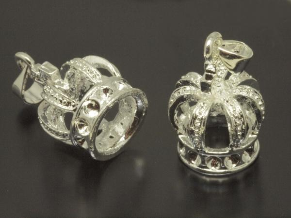 Metallperlen, Anhänger, ANCUS, Krone, 20 mm
