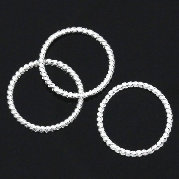 Metallringe Charmsringe Basisringe silbern 18 mm, 5 Stück