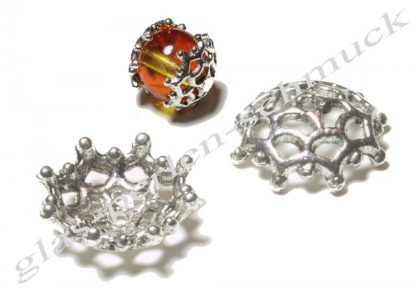Perlkappen, silberfarben, 13 mm, 1 Stück