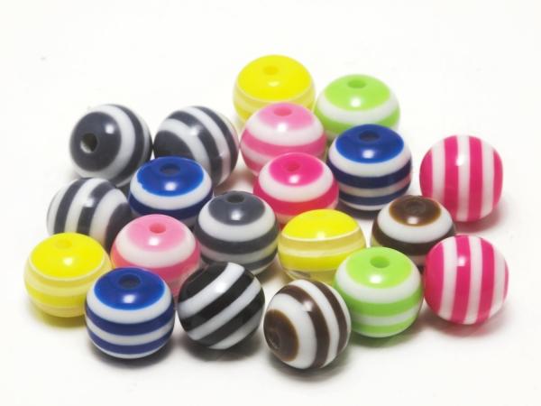 Acrylperlen, Kinderperlen, TIMMY, Mix, 8 mm - 20 Stück