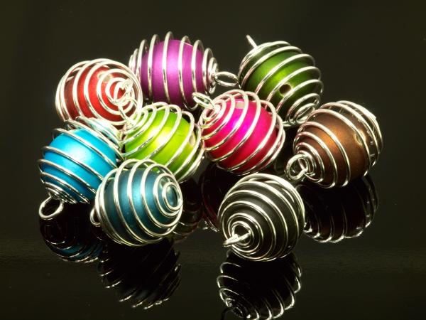 Wechselschmuck, Wechselspiralen mit Öse, 20 mm, 8er Set