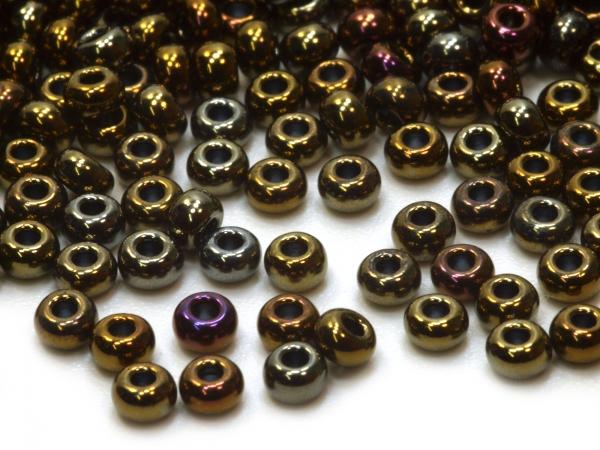 Rocailles, Böhmen, Metallic Effekt Iris 2,3 mm, 50 g 10/0