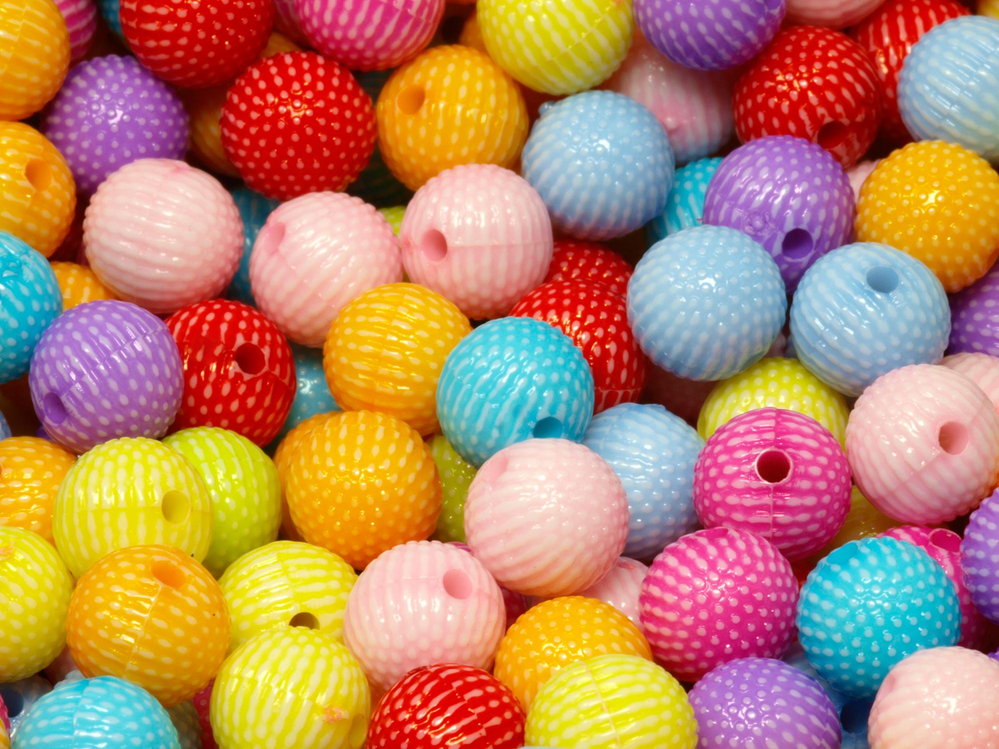 Multicolor Acrylperlen Resinperlen Kunststoffperlen NEELIS 8 mm 50 Stück