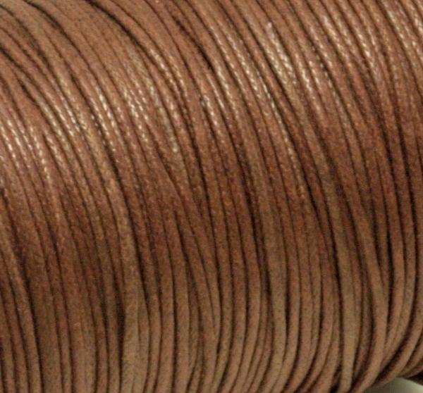 Baumwollband, gewachst, 1,0 mm, braun, 1 m