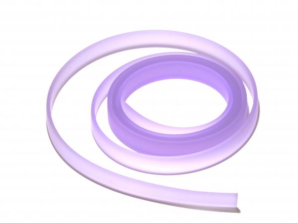 Kautschukband, flaches PVC-Band, 10x2mm, amethyst - Länge 10cm