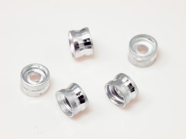 Aluminiumperlen, Spacer, CYNA, 6x4 mm, 10 Stück