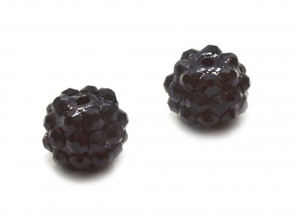 Resin Strass Perlen Chunky, 10mm rund, verschiedene Farben - 1 Stück / 1 Packung