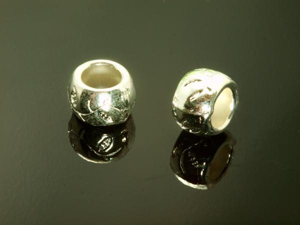 Schiebeperlen EBEL 10x7mm silberfarben Loch 6 mm 1 Stück