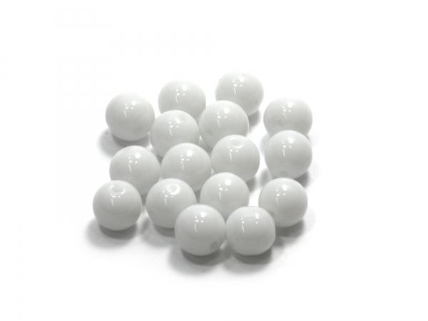 Glasperlen KADRI weiß 8 mm - 40 Stück