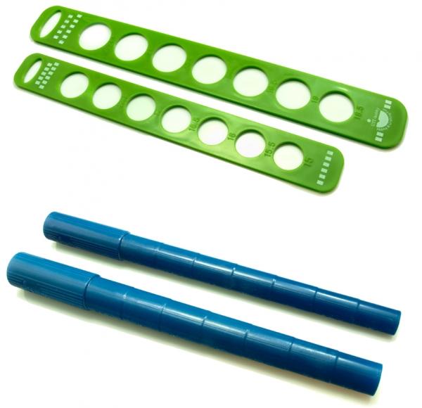 Ringmaß Ringdorn Set zum Drahtformen und Ringgröße ermitteln D=15-21,5 mm