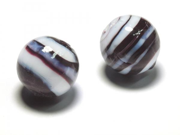 Glasperlen, Wickelperlen AELLA 14mm schwarz 1 Stück