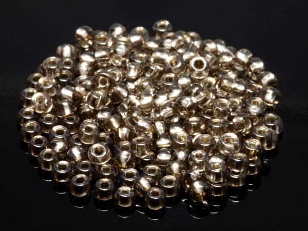 Rocailles, Böhmen, grau anthrazit silbereinlage, ca. 2,6 x 1,6 mm, 50 g