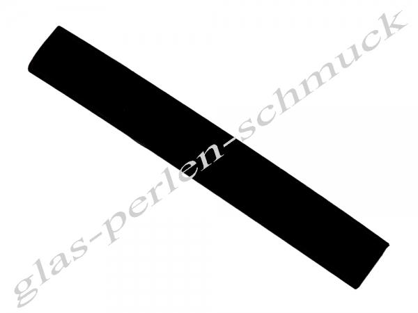 Kautschukband, flaches PVC-Band, 10x2mm, schwarz - Länge 10cm