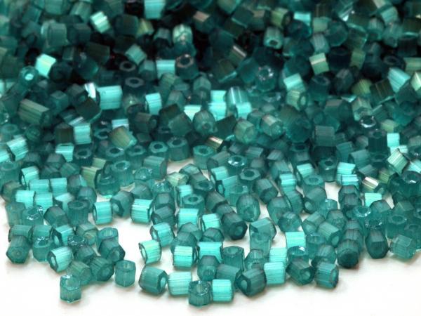 Rocailles, Böhmen, türkis 2-cut 10/0 2,1mm, 50 g