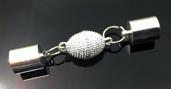 Verschluss-Set Roxas-COLO, Endkappen innen 8,4 mm, silbern