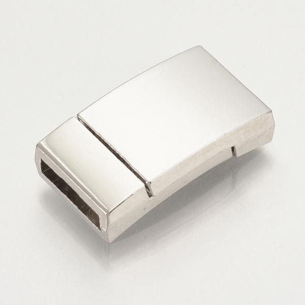 Magnetverschlüsse TILESKO I leicht gebogen platinfarben, 23x13mm - 1 Stück