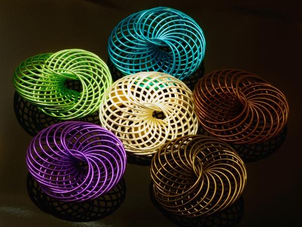 Metallperlen FEUX I Creativ - Metall - Element, Spirale 30/35 mm MIX 6 Farbe