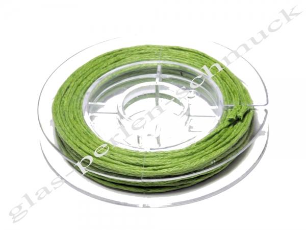 Baumwollband, 1 mm, grün, 5 m