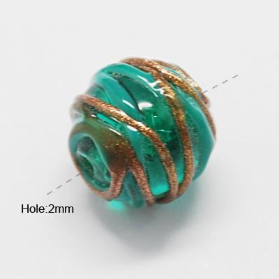Glasperlen,Lampenperlen,Designerperlen TALESIA 15 mm seegrün