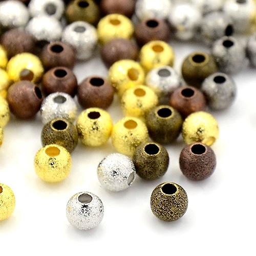 Spacer diamantiert/glänzend Zwischenperlen Beads mehrfarbig 4mm - 4,75g (ca.50 Stk.)