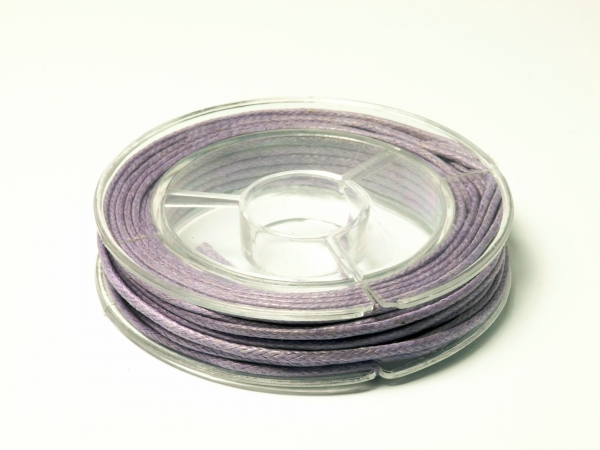 Baumwollband, 1 mm, purple, 5 m