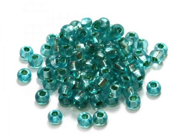 Rocailles, Böhmen, mint Silbereinzug, Ø ca.4,1mm, 50 g