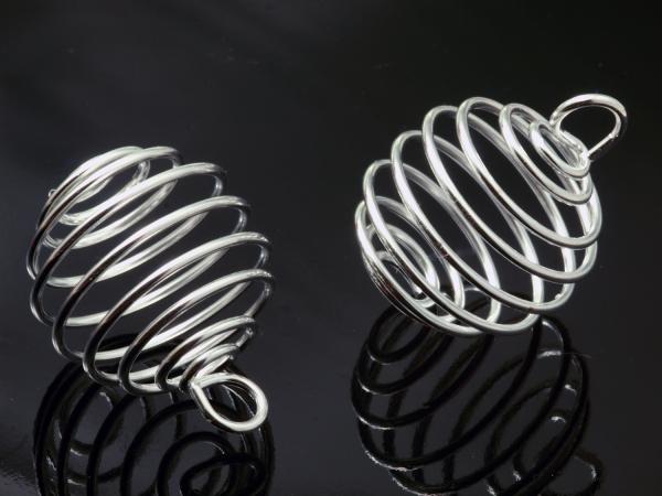 Wechselspirale, Perlenkäfig 28 x 19 mm, 1 Stück