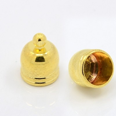 Endkappen, LOIC, golden, 10 mm, innen 8,2mm 1 Paar