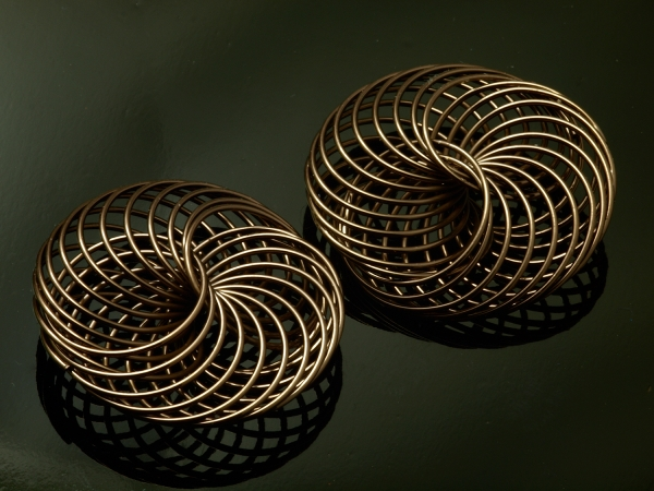Metallperlen FEUX I Creativ - Metall - Element, Spirale 35 mm schoko