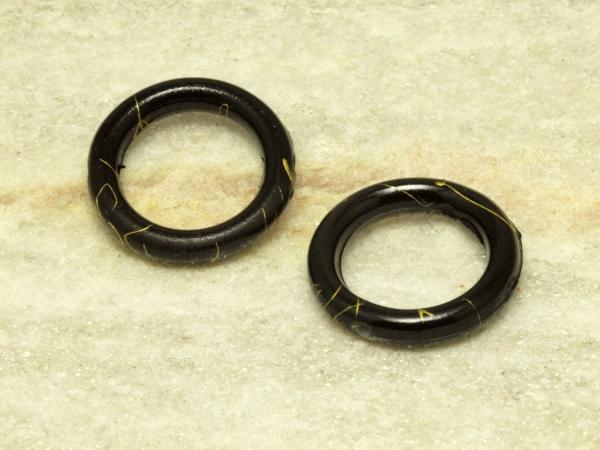 Acrylringe, ROBIN, schwarz, 17 mm