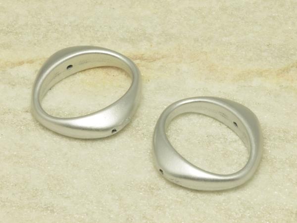 Acrylringe, ZENA, silbern, 27 mm - 1 Stück