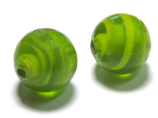 Glasperlen, FELIA, 15 mm grün