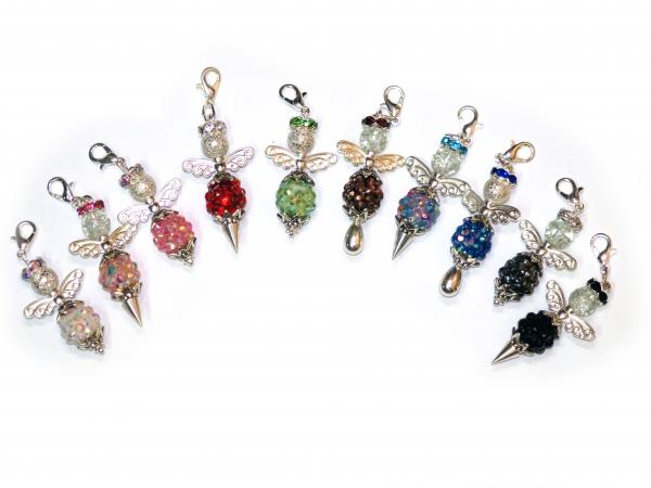 Engel Chunky mit Resin Strass Perlen, 40-55 mm, verschiedene Farben - 1 Stück