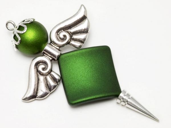 Wechselschmuck, Engel-Bastelset, Softtouch, grün