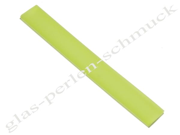 Kautschukband,flaches PVC-Band, 10 x 2 mm, hellgrün, Länge 10 cm