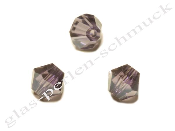 Glasschliffperlen SURI, Doppelkonus, amethyst, 6 mm - 1 Stück