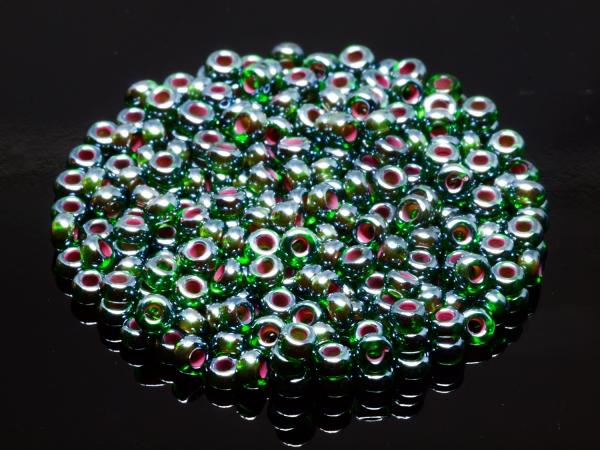 Rocailles, Böhmen, irisch grün, ca. 2,6 x 1,6 mm, 50 g