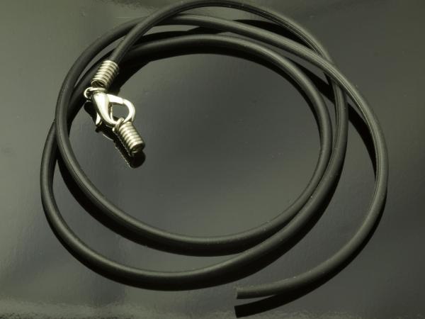 Kautschukband 47 cm, 2 mm, schwarz