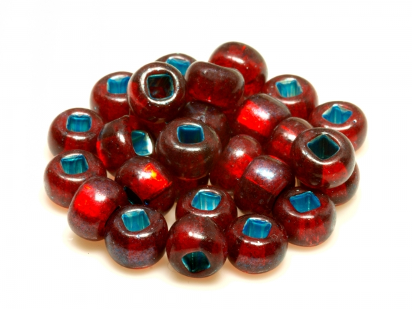 Rocailles, Böhmen, rot, ca. 6,1 x 4,1 mm, 50 g