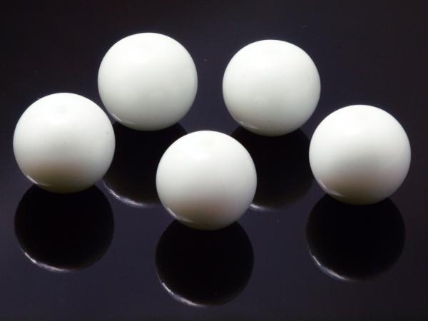 Glasperlen CATO 12 mm milchig weiß, 5 Stück