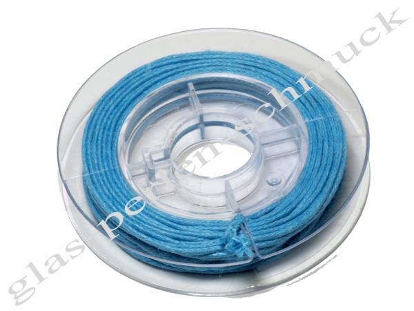 Baumwollband, 1 mm, türkis, 5 m