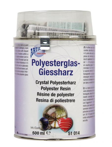 Giesharz, Kunstharz, Resin, Polyesterglas-Giesharz 500 ml