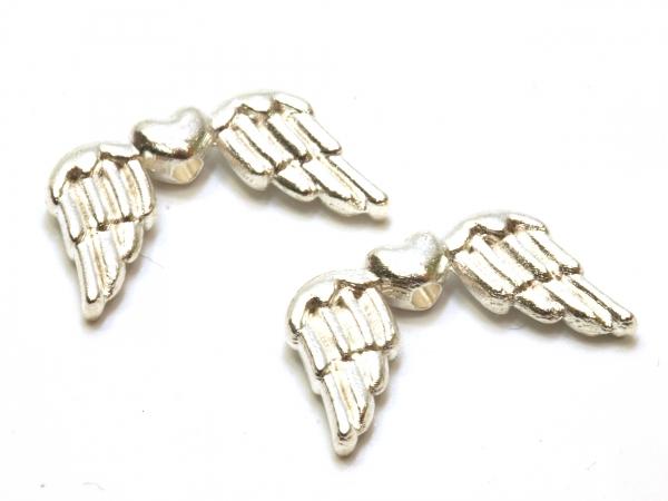 Engelflügel MIMO, 19 mm, silbern 1 Stück