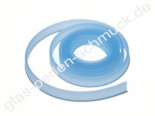 Kautschukband,flaches PVC-Band, 10 x 2 mm, hellblau, Länge 1 m