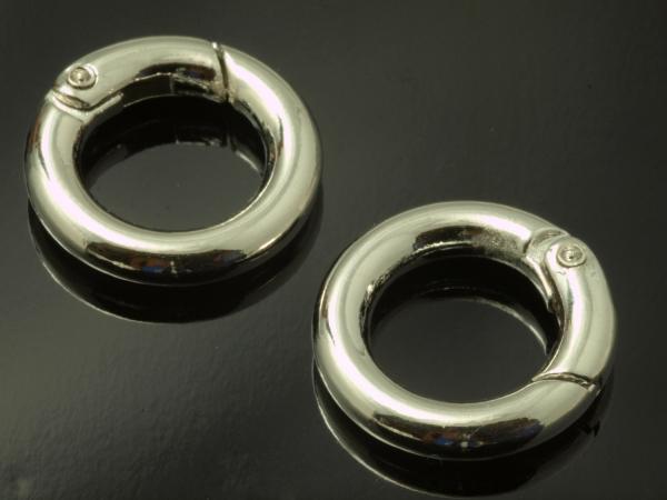 CLIP Ringe Karabinerringe 20 mm 1 Stück silbern