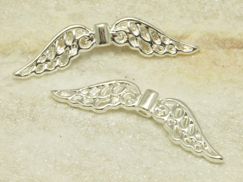 Engelsflügel Metall Perlen Eniz I S 32 X 6 Mm Silberfarben 1 Stück