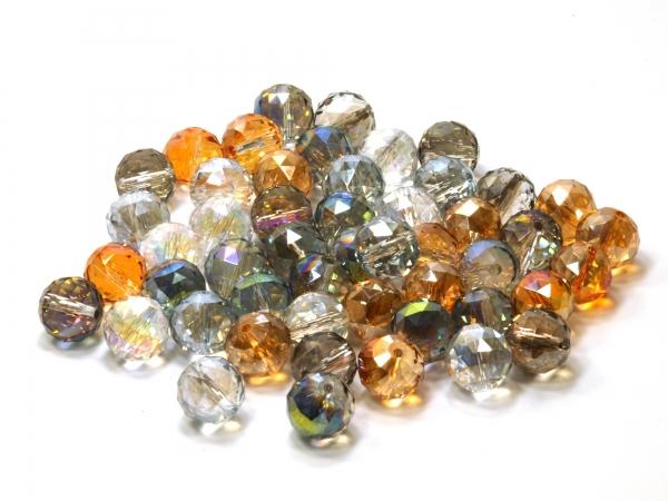 Glasschliffperlen, Multicolor 14mm 50 Stück