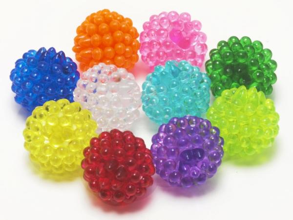 Acrylperlen, Kinderperlen, FELIX, Mix, 14 mm - 10 Stück