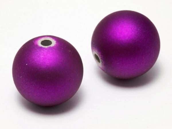 Softtouchperlen,Kunststoffperlen, 18 mm, lila